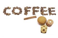 Καφές και μπισκότα στοκ εικόνες με δικαίωμα ελεύθερης χρήσης