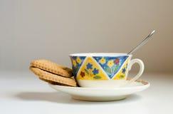 Καφές και μπισκότα Στοκ εικόνα με δικαίωμα ελεύθερης χρήσης