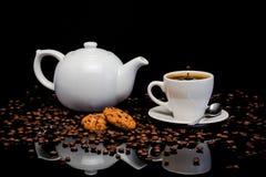 Καφές και μπισκότα Στοκ Εικόνες