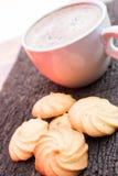 Καφές και μπισκότο Στοκ Φωτογραφίες