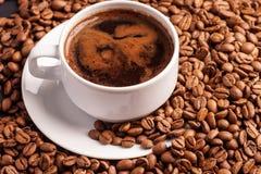 Καφές και φασόλια στοκ εικόνα