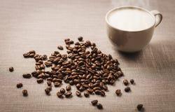 Καφές και φασόλι καφέ Στοκ Εικόνα