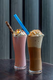 Καφές και φράουλα Milkshake Στοκ εικόνες με δικαίωμα ελεύθερης χρήσης