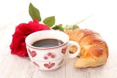 Καφές και Croissant Στοκ Φωτογραφίες