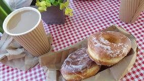 Καφές και Donuts Στοκ εικόνες με δικαίωμα ελεύθερης χρήσης