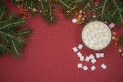 Καφές και marshmallow Στοκ Εικόνες