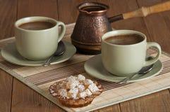 Καφές και nougat Στοκ φωτογραφία με δικαίωμα ελεύθερης χρήσης
