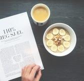 Καφές και oatmeal Στοκ φωτογραφία με δικαίωμα ελεύθερης χρήσης
