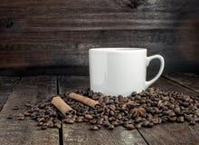 Καφές, κανέλα και σιτάρια Στοκ Εικόνα