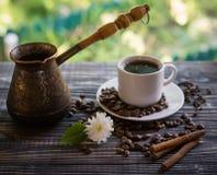 Καφές μαύρος, ορεκτικός Ποτό από το πρωί ένας ευώδης καφές Στοκ εικόνα με δικαίωμα ελεύθερης χρήσης