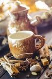 Καφές με τα καρυκεύματα Στοκ Φωτογραφίες