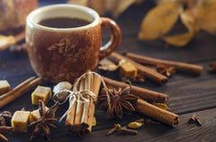 Καφές με τα καρυκεύματα Στοκ Φωτογραφία