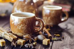 Καφές με τα καρυκεύματα Στοκ Εικόνες