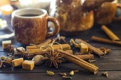 Καφές με τα καρυκεύματα Στοκ εικόνα με δικαίωμα ελεύθερης χρήσης