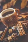 Καφές με τα καρυκεύματα Στοκ Εικόνα