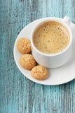 Καφές με τα μπισκότα μπισκότων Στοκ Φωτογραφία