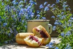 Καφές με τα donuts Στοκ Εικόνα