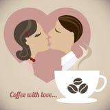 Καφές με την αγάπη Στοκ φωτογραφίες με δικαίωμα ελεύθερης χρήσης