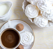 Καφές με την κρέμα Στοκ εικόνες με δικαίωμα ελεύθερης χρήσης