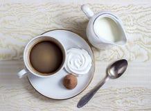 Καφές με την κρέμα Στοκ φωτογραφία με δικαίωμα ελεύθερης χρήσης