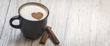 Καφές Με αγάπη στοκ εικόνες