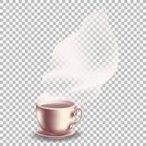 Καφές με το διαφανή ατμό Στοκ Εικόνα