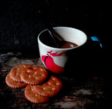 Καφές με το μπισκότο Στοκ Φωτογραφίες