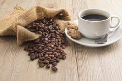 Καφές με το μπισκότο στοκ εικόνες