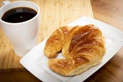 Καφές με croissant Στοκ Εικόνες