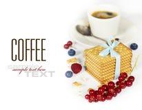καφές μπισκότων Στοκ φωτογραφία με δικαίωμα ελεύθερης χρήσης