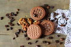 καφές μπισκότων Στοκ Εικόνες