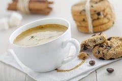 καφές μπισκότων Στοκ εικόνα με δικαίωμα ελεύθερης χρήσης
