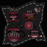 Καφές λογότυπων Στοκ Εικόνες