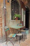 Καφές πεζοδρομίων, Ούρμπινο, Ιταλία Στοκ Φωτογραφίες