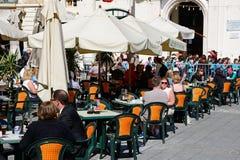Καφές πεζοδρομίων, Valletta Στοκ φωτογραφίες με δικαίωμα ελεύθερης χρήσης