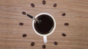 καφές περισσότερος χρόνος απόθεμα βίντεο