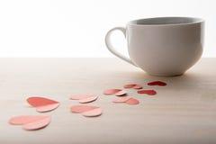 Καφές που γίνεται εύγευστος με την αγάπη Στοκ Φωτογραφία