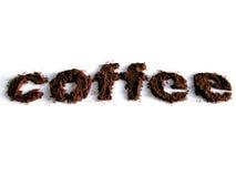 Καφές που γράφεται με τον καφέ Στοκ φωτογραφία με δικαίωμα ελεύθερης χρήσης