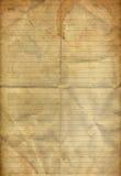καφές που διπλώνει το παλαιό έγγραφο σημειώσεων που λεκιάζουν Στοκ φωτογραφίες με δικαίωμα ελεύθερης χρήσης