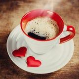 Καφές πρωινού για αγαπημένος. Στοκ εικόνα με δικαίωμα ελεύθερης χρήσης