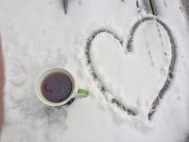 Καφές πρωινού με την αγάπη Στοκ Εικόνες