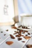 Καφές πρωινού στον ήλιο στοκ εικόνα