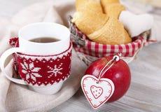Καφές πρωινού Χριστουγέννων Στοκ Εικόνες