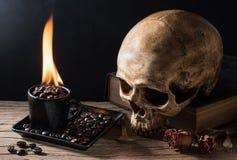 Καφές πυρκαγιάς κόλασης Στοκ εικόνες με δικαίωμα ελεύθερης χρήσης