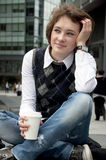 καφές πόλεων σπασιμάτων Στοκ Φωτογραφία
