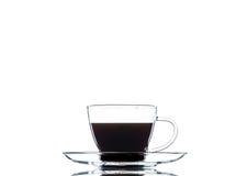 Καφές σε ένα διαφανές σύνολο Στοκ φωτογραφία με δικαίωμα ελεύθερης χρήσης