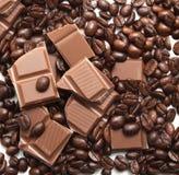 καφές σοκολάτας φασολ&io Στοκ εικόνες με δικαίωμα ελεύθερης χρήσης
