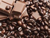 καφές σοκολάτας φασολ&io Στοκ φωτογραφίες με δικαίωμα ελεύθερης χρήσης