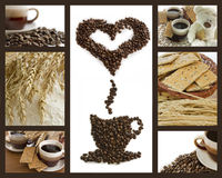 καφές σπασιμάτων ανασκόπη&sigma Στοκ Εικόνα