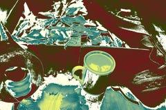 Καφές στα φύλλα στοκ φωτογραφία με δικαίωμα ελεύθερης χρήσης